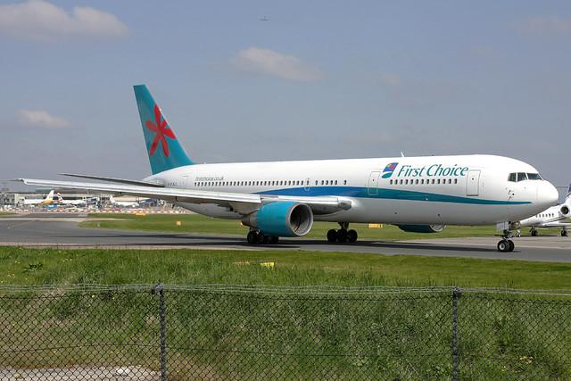First Choice Boeing 767-35E(ER) G-PJLO MAN 18-04-09