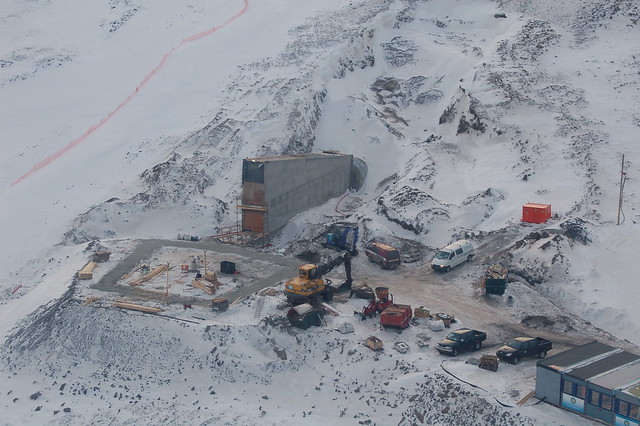Svalbard Global Seed Vault Under Construction
