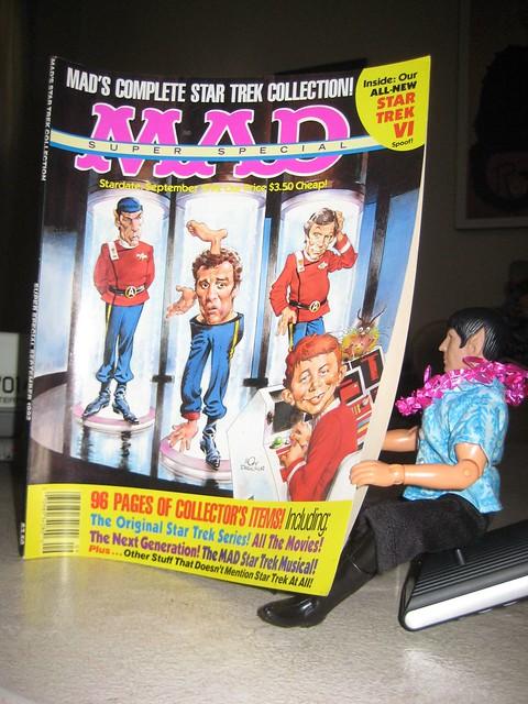 Spockcation 2009:  Spock reading Mad Magazine Star Trek Special
