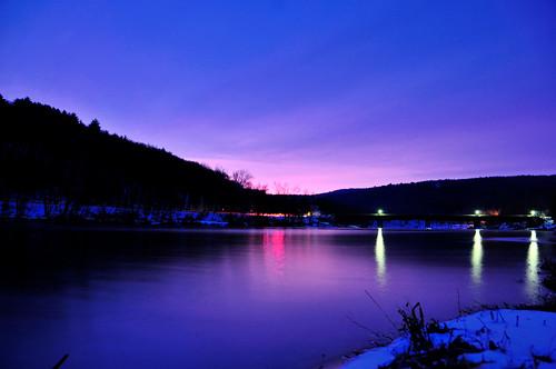 longexposure bridge snow reflection ford night sunrise geotagged dawn nocturnal pennsylvania pa delawareriver minisink lackawaxen mudpig stevekelley