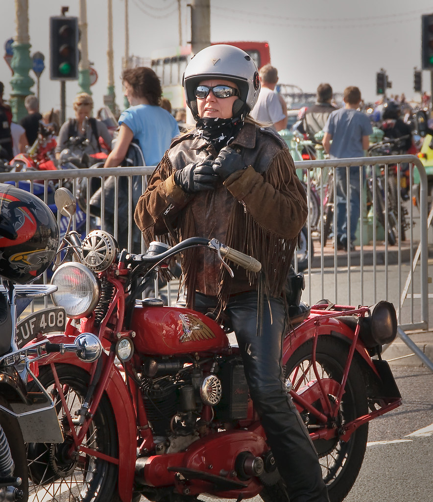 5cf1b3b5e ... dirtmerchantrmx Old school biker chick | by dirtmerchantrmx