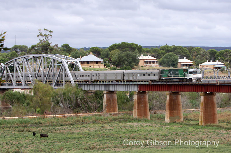 NR85 Southern Spirit crossing the Murray River by Corey Gibson