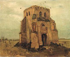 Vincent van Gogh - The old church tower at Nuenen at Van Gogh Museum Amsterdam