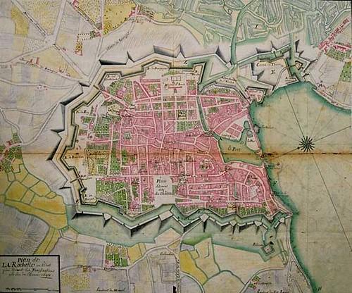Map Of France La Rochelle.France La Rochelle Map Of The 16th Century Walled City T Flickr