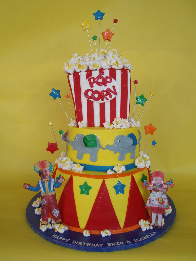 Fabulous Circus Carnival Themed Birthday Cake Fashioned After A Cak Flickr Personalised Birthday Cards Paralily Jamesorg