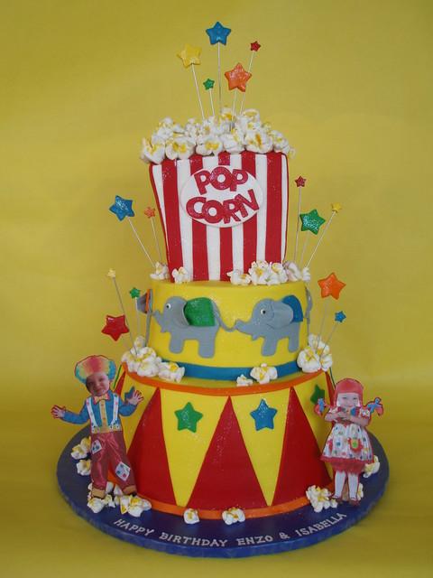 Circus-Carnival Themed Birthday Cake