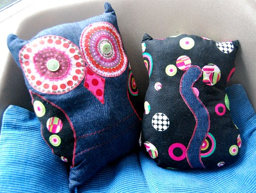 owl and pussycat cushions :: from me to vonnie