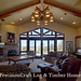 Timber Frame Home Great Room View | Colorado Homes | PrecisionCraft Timber Homes by PrecisionCraft Log & Timber Homes