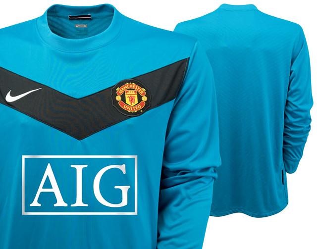 sports shoes 15066 437f5 Manchester United 2009/10 away goalkeeper jersey | unitedkit ...