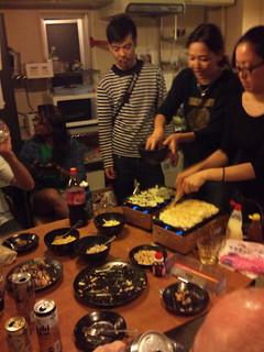Our hostel had a fun Takoyaki party   by kalleboo