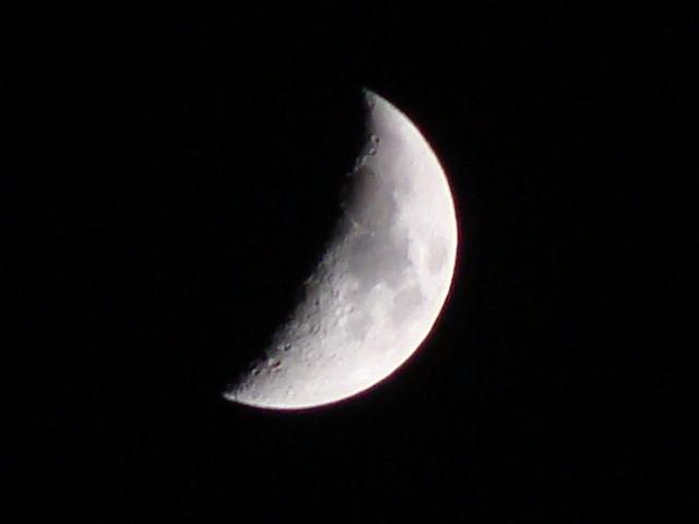 Luna cuarto menguante | çEsta luna la tome a principios de n… | Flickr
