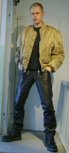 gay leather pants