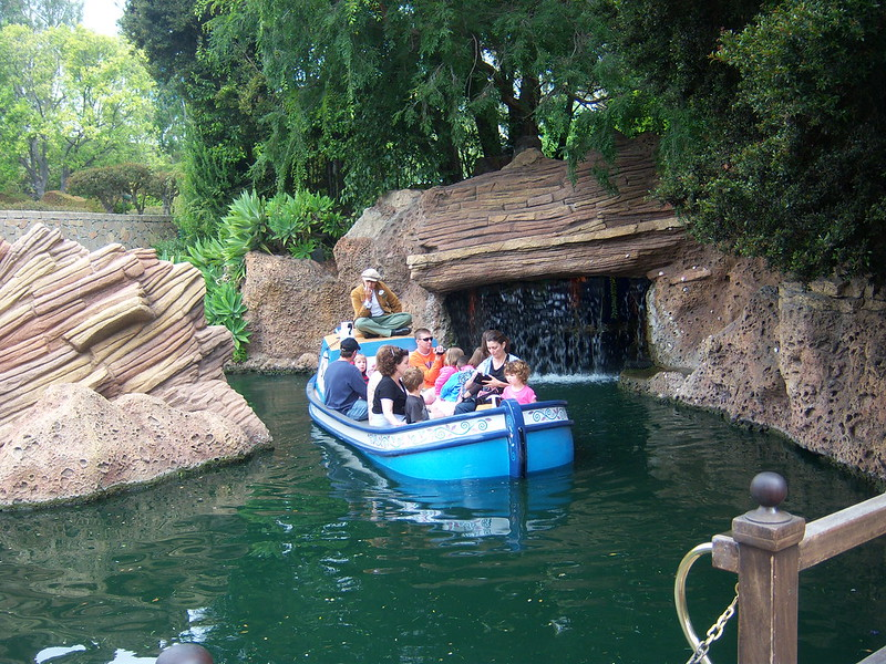 Boat approaches at Storybook Land Canal Boats
