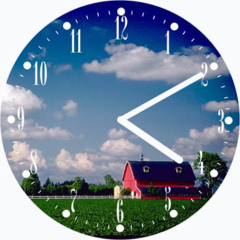 Farm Scene Gorgeous Clock | by customclockface
