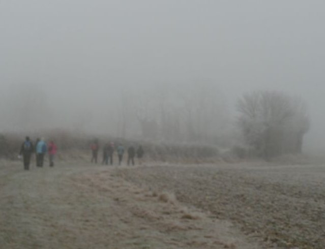 Frost and mist Wanborough to Godalming