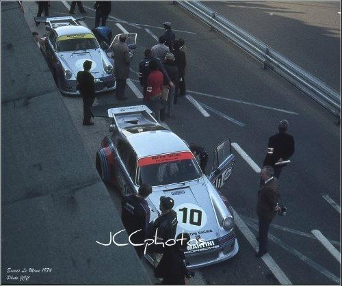 Le Mans 1974 essais Porsche Martini Carrera RSR Turbo