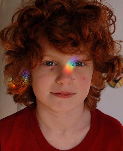 Em has a rainbow face   by artfulblogger
