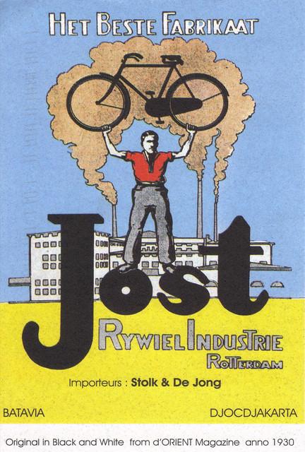 Bicycle Ad Postcard