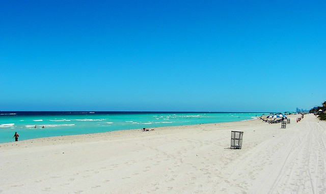 Looking straight south towards Haulover Beach from Sunny Isles
