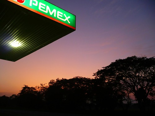 Sunset at the Gas Station   by pacomexico