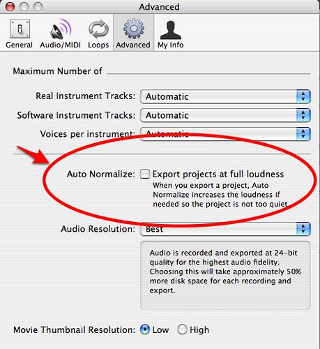 24 bit audio resolution garageband