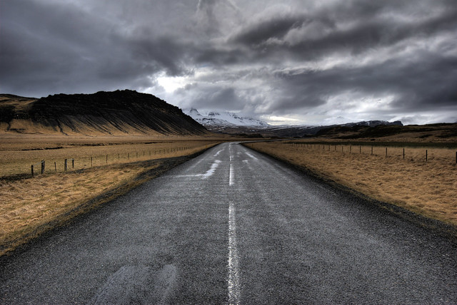 Road to Barnafoss, Iceland