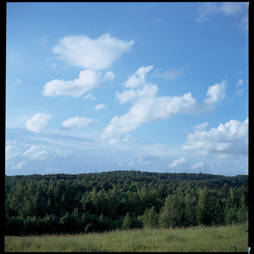 sky 6x6 film clouds farm slide chrome transparency fujifilm fujichrome e6 mamiyac220 astia100f alamancecounty 80mmf28 canecreekfarm wellsbranchfarm