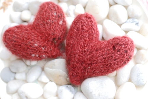 felted hearts | by SouleMama