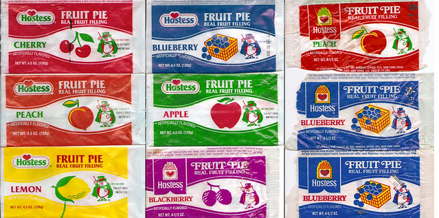 Old Hostess Fruit Pie Wrappers