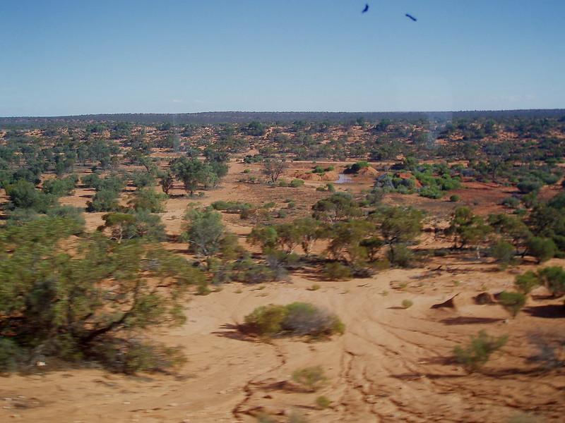 Great Victoria Desert, South Australia. Indian Pacific Railway. Kalgoorlie - Adelaide. WA - SA.