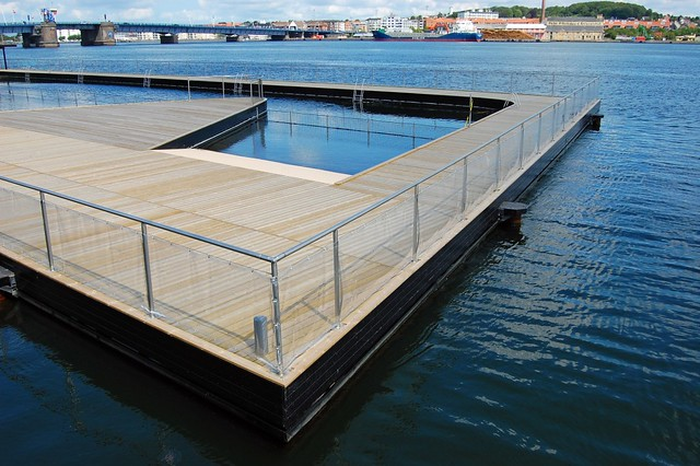 The new open-air swimming pool in the harbour of Aalborg