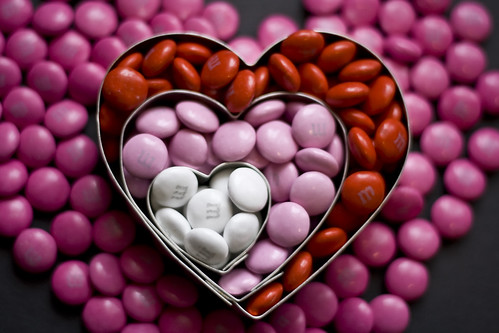 pink red white love candy heart mm valentinesday photo365 cookiecuttersmetal shiny25365