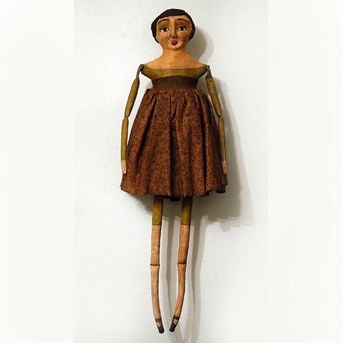 Primitive Folk Art Cloth and Clay Doll | by oldworldprimitives