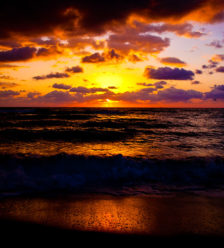 ocean sky sun water clouds sunrise sand waves florida shore miamibeach sobe aplusphoto theunforgettablepictures cffaa photographerswharf addictedtohighquality