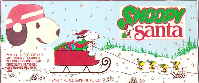 Old Snoopy Santa Ice Cream Box I Think This From The 1980 Flickr