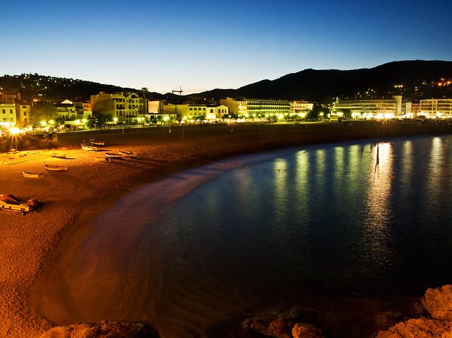 Tossa Beach at Night - Spain