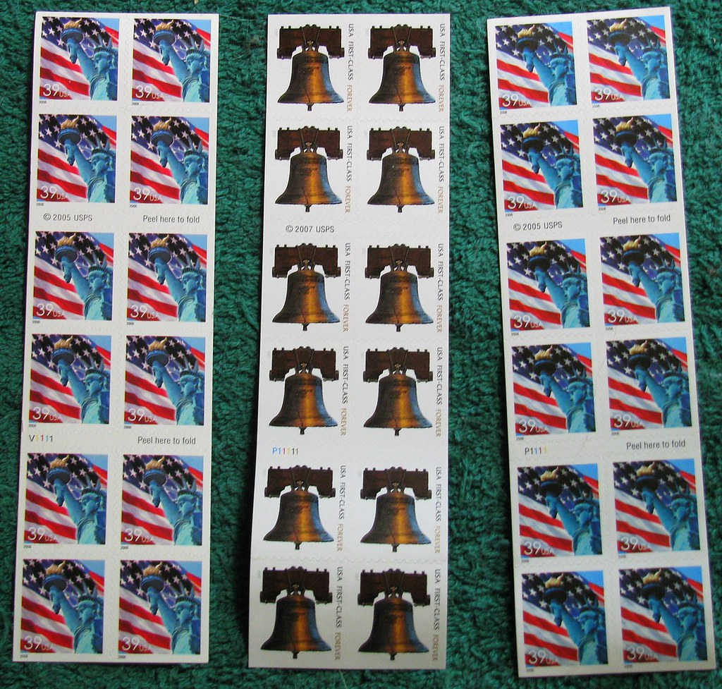 FIRST CLASS STAMPS      | Lady Liberty & U S  Flag stamps(39… | Flickr