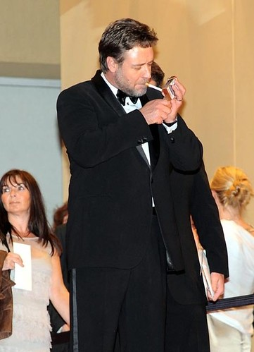 Russell Crowe lights up at Cannes | by AHeron