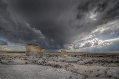 Storm Rolls in Over Monument Rocks