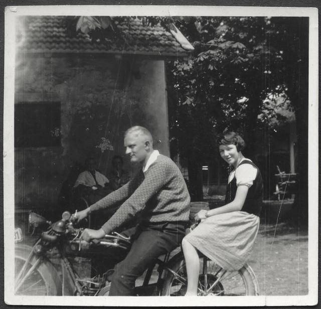 Archiv A698 Motorradfahrer, 1930er