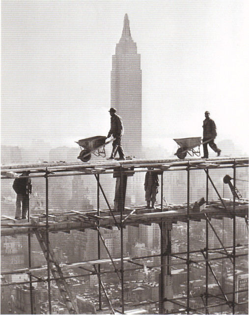 Construction Workers Postcard