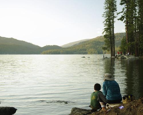 california sunset summer lake mom fishing pentax son bsa shaverlake ilovecalifornia k200d campchawanakee pentaxk200d boysscoutcamp