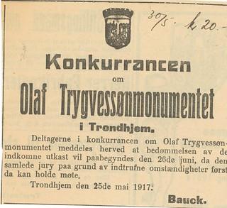 1917.05.25 - Annonse i Trondhjems Adresseavis