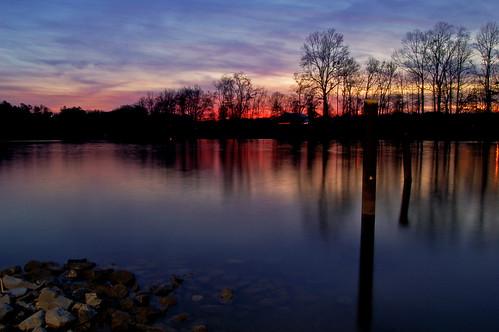 sunset water reflections colorful coosariver etowahcounty hokesbluffferrylanding