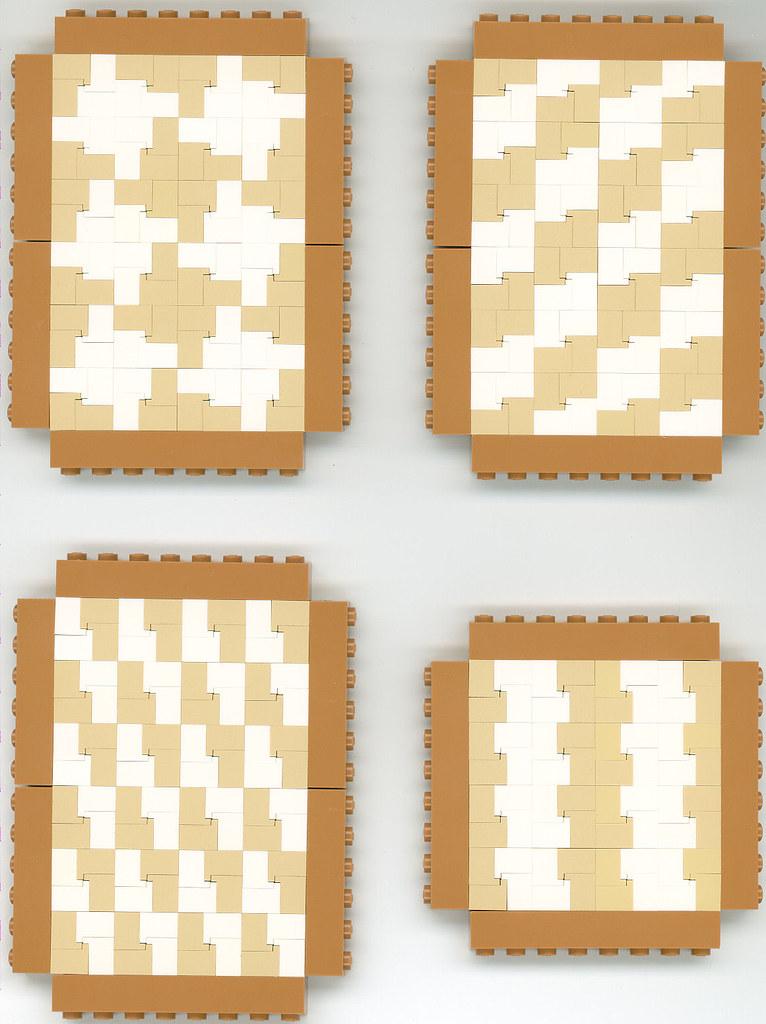 Two-tone headlight brick patterns