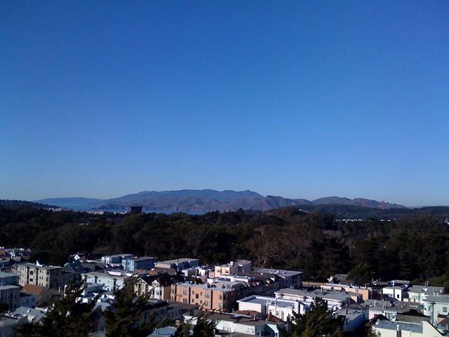 view of golden gate bridge from UCSF Parnassus campus   Flickr
