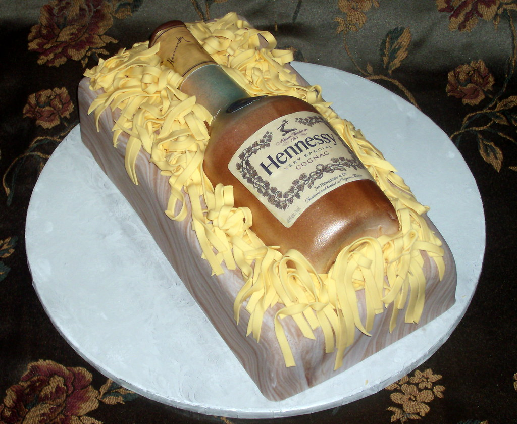 Amazing Hennessy Cake This Was For A 21St Birthday A T From Ou Flickr Funny Birthday Cards Online Alyptdamsfinfo