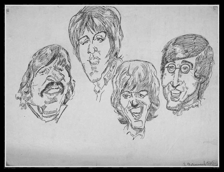 The Beatles - Pen & Ink Drawing by  snc145 - Photo by snc145