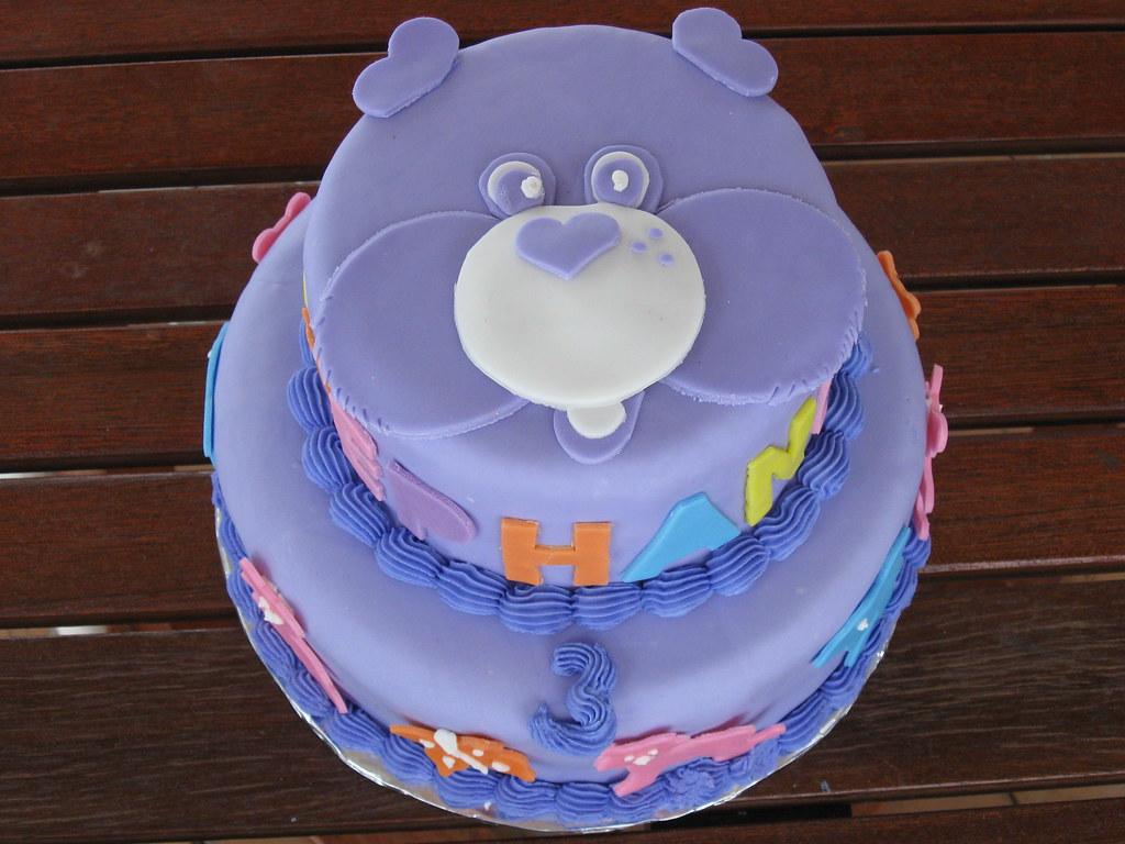 Admirable Purple Care Bear Birthday Cake A Care Bear Birthday Cake F Flickr Funny Birthday Cards Online Alyptdamsfinfo