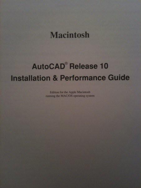 AutoCAD R10 Macintosh Installation Guide   Shaan Hurley   Flickr